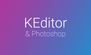 Photoshop & KEditor for webpages